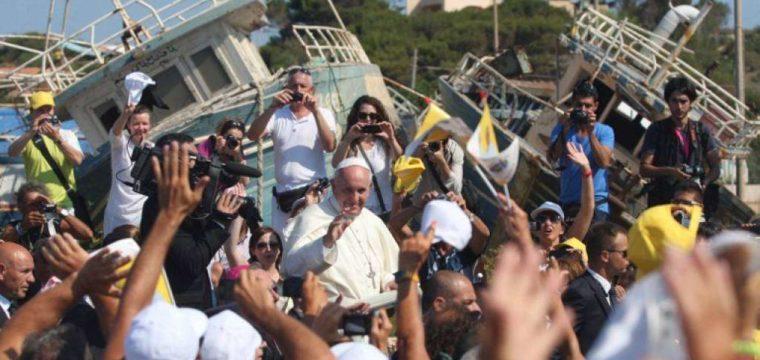 Visita a Lampedusa