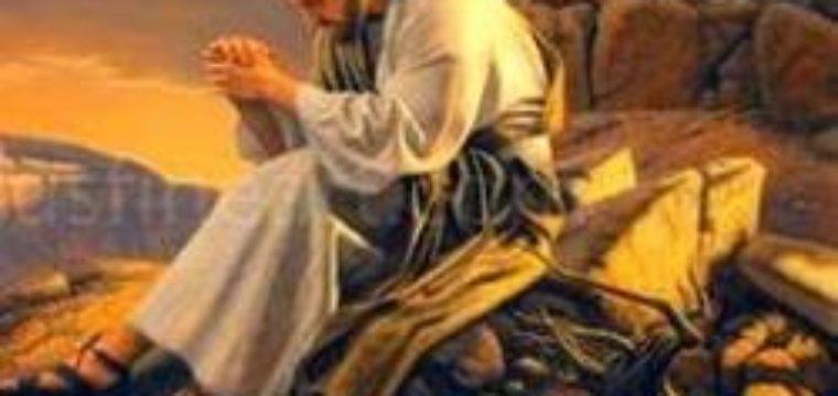 Gesù salì su di un alto monte a pregare.